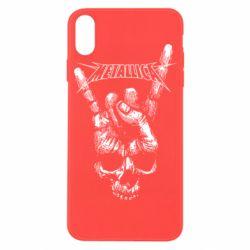 Чехол для iPhone X/Xs Skull and hand Metallica