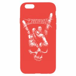 Чехол для iPhone 6/6S Skull and hand Metallica