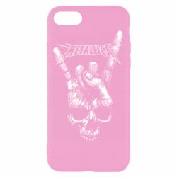 Чехол для iPhone 8 Skull and hand Metallica