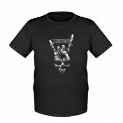 Детская футболка Skull and hand Metallica