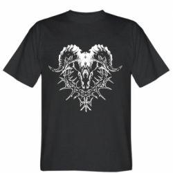 Мужская футболка Skull and horns