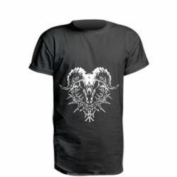 Удлиненная футболка Skull and horns