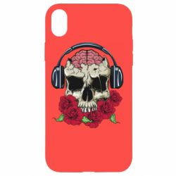 Чохол для iPhone XR Skull and roses