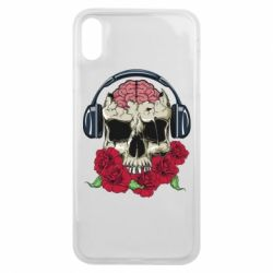 Чохол для iPhone Xs Max Skull and roses