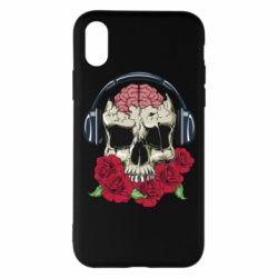 Чохол для iPhone X/Xs Skull and roses