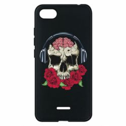 Чохол для Xiaomi Redmi 6A Skull and roses