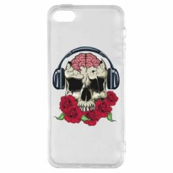 Чохол для iphone 5/5S/SE Skull and roses