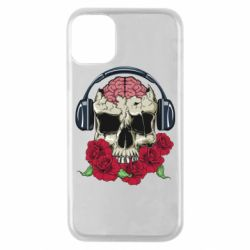 Чохол для iPhone 11 Pro Skull and roses
