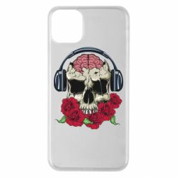 Чохол для iPhone 11 Pro Max Skull and roses