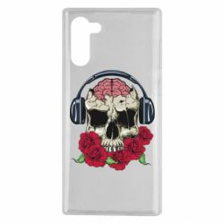 Чохол для Samsung Note 10 Skull and roses