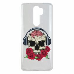Чохол для Xiaomi Redmi Note 8 Pro Skull and roses