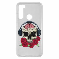 Чохол для Xiaomi Redmi Note 8 Skull and roses