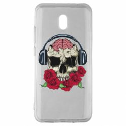 Чохол для Xiaomi Redmi 8A Skull and roses