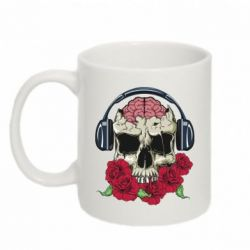 Кружка 320ml Skull and roses - FatLine
