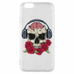 Чохол для iPhone 6/6S Skull and roses