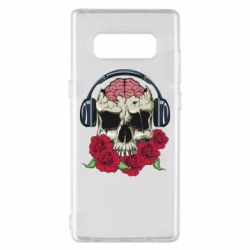 Чохол для Samsung Note 8 Skull and roses