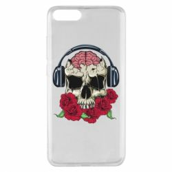 Чохол для Xiaomi Mi Note 3 Skull and roses