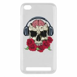 Чохол для Xiaomi Redmi 5a Skull and roses