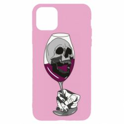 Чехол для iPhone 11 Pro Max Skull in a glass of wine