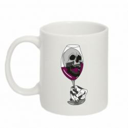 Кружка 320ml Skull in a glass of wine