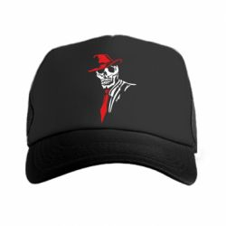 Кепка-тракер Skull in a hat with a tie