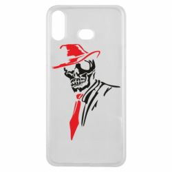 Чехол для Samsung A6s Skull in a hat with a tie