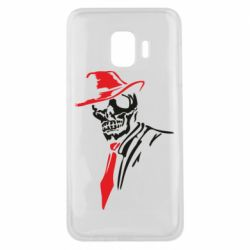 Чехол для Samsung J2 Core Skull in a hat with a tie