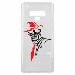 Чехол для Samsung Note 9 Skull in a hat with a tie