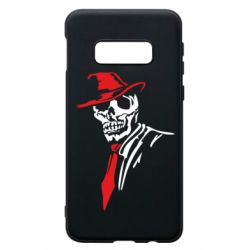 Чехол для Samsung S10e Skull in a hat with a tie