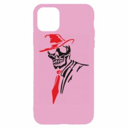 Чехол для iPhone 11 Pro Max Skull in a hat with a tie