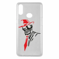 Чехол для Samsung A10s Skull in a hat with a tie