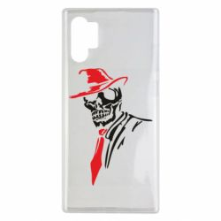 Чехол для Samsung Note 10 Plus Skull in a hat with a tie