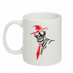 Кружка 320ml Skull in a hat with a tie