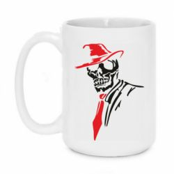 Кружка 420ml Skull in a hat with a tie