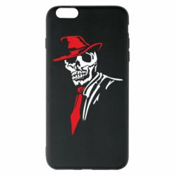 Чехол для iPhone 6 Plus/6S Plus Skull in a hat with a tie