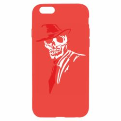 Чехол для iPhone 6/6S Skull in a hat with a tie