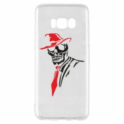 Чехол для Samsung S8 Skull in a hat with a tie