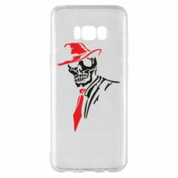 Чехол для Samsung S8+ Skull in a hat with a tie