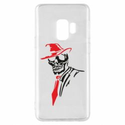 Чехол для Samsung S9 Skull in a hat with a tie