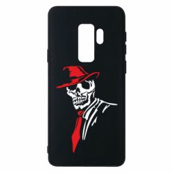 Чехол для Samsung S9+ Skull in a hat with a tie