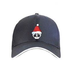Кепка Skull in a New Year's cap