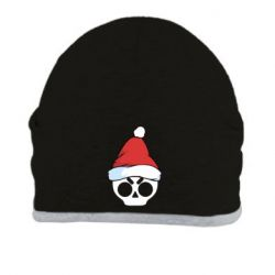 Шапка Skull in a New Year's cap