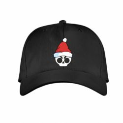 Детская кепка Skull in a New Year's cap