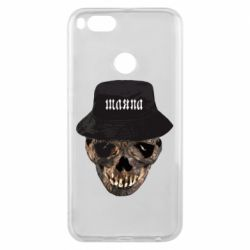 Чехол для Xiaomi Mi A1 Skull in hat and text
