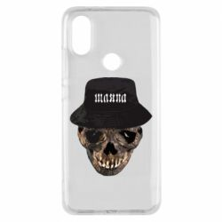 Чехол для Xiaomi Mi A2 Skull in hat and text