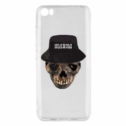 Чехол для Xiaomi Mi5/Mi5 Pro Skull in hat and text