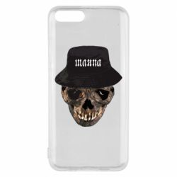 Чехол для Xiaomi Mi6 Skull in hat and text