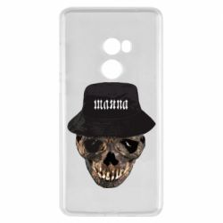 Чехол для Xiaomi Mi Mix 2 Skull in hat and text