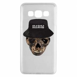 Чехол для Samsung A3 2015 Skull in hat and text