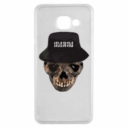 Чехол для Samsung A3 2016 Skull in hat and text